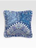 Tacir-Print Satin Accent Pillow