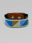 Beaded Leather Cuff Bracelet