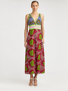 Printed Canvas Maxi Dress