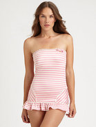One-Piece Boudoir Stripe Swimdress