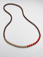 Tri-Tone Beaded Necklace