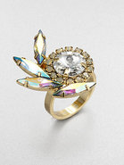 Swarovski Crystal Feather Ring