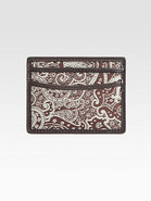 Wither Leather-Trimmed Paisley-Print Card Case