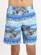 Island Print Swim Trunks