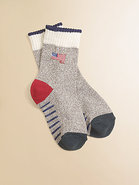 Toddler&#39;s &amp; Little Boy&#39;s Monkey Flag Crew Socks