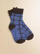 Toddler&#39;s &amp; Little Boy&#39;s Buffalo Plaid Socks