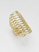 Openwork Ring/18K Goldplated
