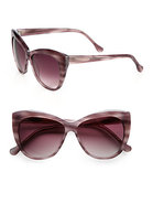 Crescent Beveled Cat's-Eye Sunglasses