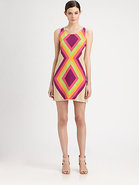Diamond Intarsia-Knit Dress