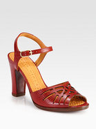 Twsited Leather Sandals