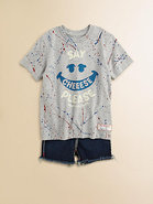 Toddler's & Little Girl's Paint Splatter Tee