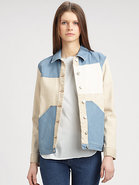 Denim Colorblock Jacket