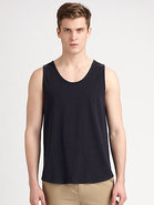 Cotton Knit Loose-Fit Tank Top