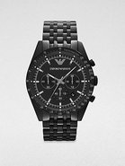 Black IP Stainless Steel Chronograph Watch