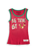 Girl's   Be True   Ringer Tank Top