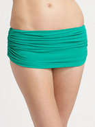 Low-Rise Ruched Bikini Bottom