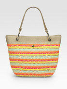 Squishee Clip Striped Tote
