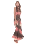 Tara Dress in Coral Tie Dye