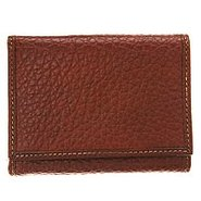 Trifold Wallet Tumbled - Men's - Wallets - Brown