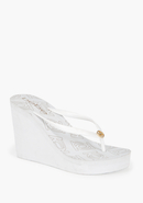 - Logo Flip Flop Wedge - White - L