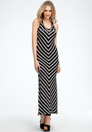 - Chevron Rib Tank Dress - Online Exclusive - Blac