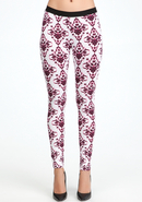 - Nirvana Damask Leggings - Nirvana Damask 2 - S