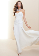 - Strapless Fitted Drape Bridal Gown - Snow White 