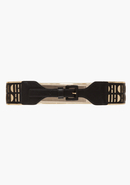 - Perforated Metallic Underlay Belt - Black/Gold -