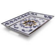 Chef Tim Love Flor Azul Rectangular Platter