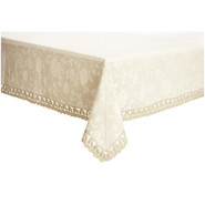 Cream Antique Jacquard Tablecloth, 90 x70