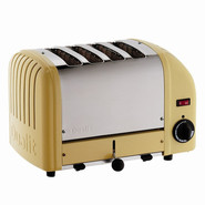 Yellow Four-Slice Toaster