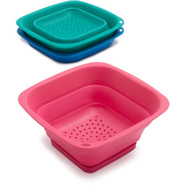 Square Collapsible Mini Colander, Teal