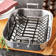 Stainless Steel Roasting Pan with Rack, 11  x 13