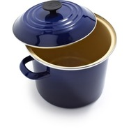 Indigo Enameled Steel Stockpot
