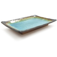 Turquoise Sky Glazed Sushi Plate