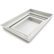Fat Daddio's Sheet Cake Pan, 8  x 12  x 2 , 8 x12