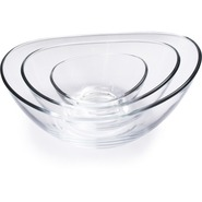 Papaya Glass Bowl, 9 1/2 , 9.5