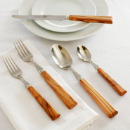 Olive Wood Flatware, 5-Piece Set