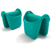 Silcone Pinch Mitts, Set of 2, Teal