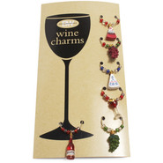 Wine and Cheese Wine Charms