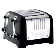 Lite Black 4-Slice Soft-Touch Toaster
