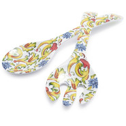Floreale Melamine Servers, Set of 2