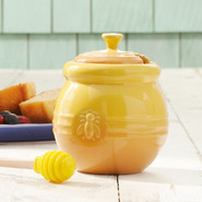 Dijon Honey Pot with Spatula