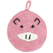 Pink Pig Crochet Potholder
