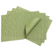 Lawn-Green Rectangular Bamboo Placemat
