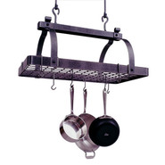 Classic Rectangle Pot Rack with Grid, 30&amp;#34 x 18 