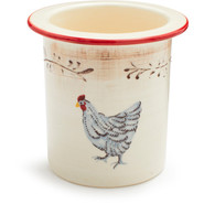 French Hen Utensil Crock