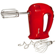 Red 16-Speed Hand Mixer