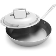 d5 Brushed Stainless Steel French Skillet with Lid