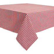 Red &amp; White Gingham Tablecloth, 69  x 90